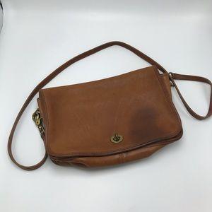 Vintage Coach Legacy Brown Leather Crossbody Bag